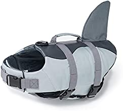 EMUST Dog Life Vests, Dog Floats for Swimming, Boat, Pool, Ripstop Dog Life Jacket with High Buoyancy and Lift Handle for Small and Medium Breeds, M