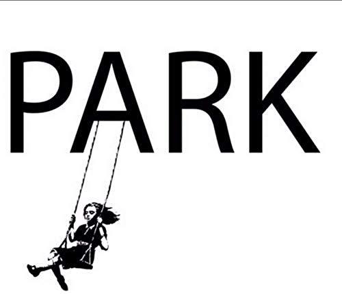 Mädchen Auf Schaukel Banksy Style Wandtattoo Kunst Grafitti Wandaufkleber Größe 78 * 101Cm