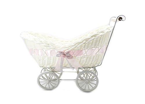 ASVP Shop Large Baby Pram Hamper Wicker Basket Baby Shower Party Baby Gift