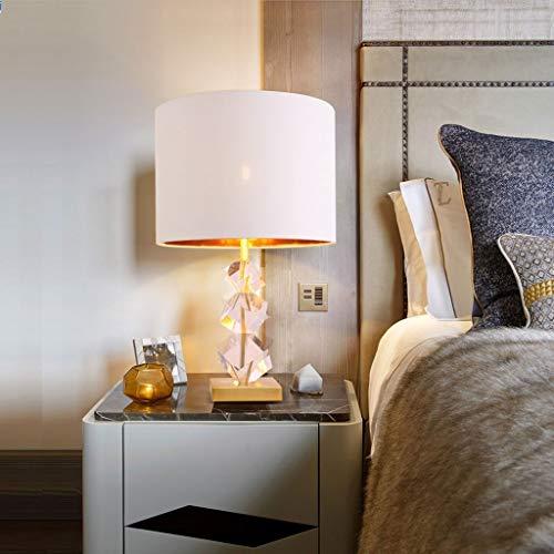 Lfixhssf tafellamp van natuurlijk all-koper met kristal, modern, minimalistisch, creatief, persoonlijkheid, Living Room Lamp Amerikaans licht Luxury Bedroom bedlampje Lfixhssf