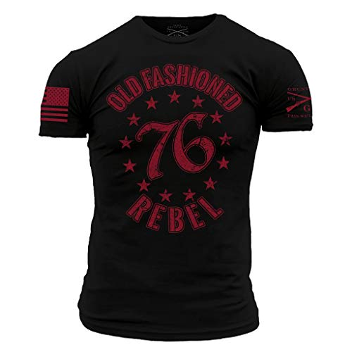 Grunt Style Old Fashioned Rebel Men's T-Shirt (Black, X-Large)