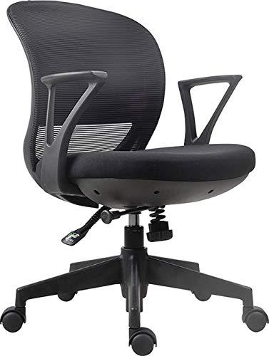 Stijlvolle bureaustoel van mesh, draaibare stoel, baasstoel, bureaustoel, stoel voor thuisgebruik Retro size Zwart