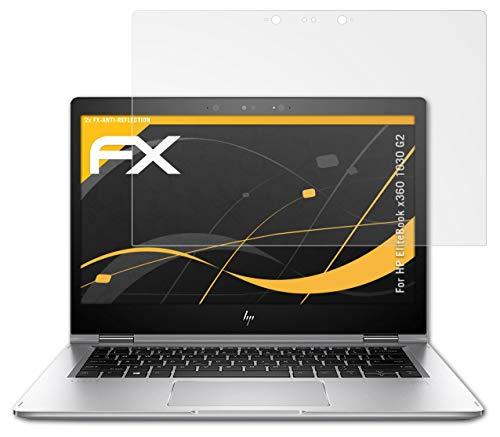atFolix Panzerfolie kompatibel mit HP EliteBook x360 1030 G2 Schutzfolie, entspiegelnde & stoßdämpfende FX Folie (2X)