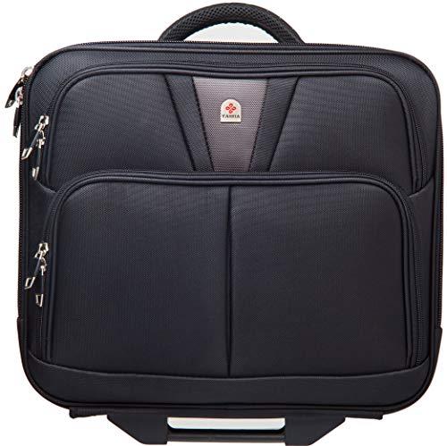 Tassia Large Wheeled Laptop Case Roller Bag Pilot Case 17' Laptop - Overnight Compartment - 37 litres