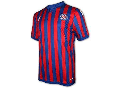 Macron Hajduk Split Auswärtstrikot 20 21 rot blau Hajduk Away Shirt Jersey, Größe:XXL