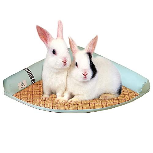 Oncpcare Estera de cama de conejo de verano para cama de conejo, enfriar pequeñas mascotas sueño cama Pad para conejillo de indias chinchilla conejo gatito