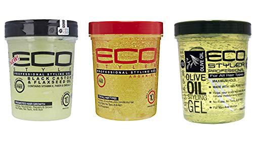 Eco Styler Black Castor & Flaxseed Oil 32oz - 946ml Ecostyler Styling Gel Argan Oil (32oz - 946ml) Eco Styler Styling Gel Olive Oil 946 ml  Tiefenkonditionierung mit maximalem Halt
