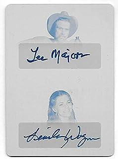 2018 Pop Century Metal Lee Majors & Lindsay Wagner Dual Autograph Cyan Plate 1/1