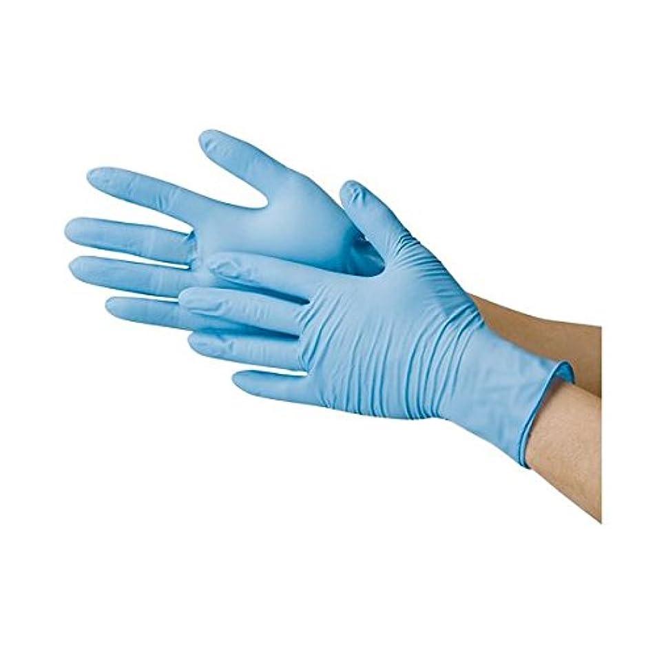あいまい探偵工業用川西工業 ニトリル極薄手袋 粉なし ブルーM ds-1915807