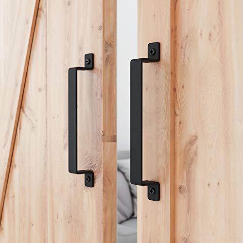 SMARTSTANDARD 12' Heavy Duty Barn Door Long Pull Handle Set of 2, for Gate, Kitchen, Sheds, Garage