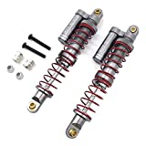 RC Shock Absorbers, RCPLAGA 2PCS 100MM Metal Shock Absorbers External T4 Dual-Stage Shock Damper for 1/10 AXIAL SCX10 90046 90047 SCX10 II RC Buggy Car (Titanium)