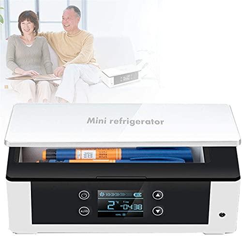 XnalLKJ Enfriador De Insulina, Refrigerador De Campamento, Botiquín De Gran Capacidad, Control Inteligente De Temperatura, Múltiples Modos De Fuente De Alimentación, Adecuado para Automóvil/Viaje /