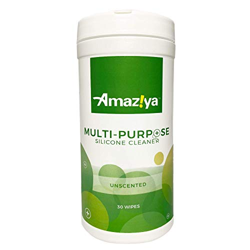 Amaziya Multipurpose Silicone Cleaner Wipes, Enzyme Non-Toxic Cleaning Formula (Unscented)