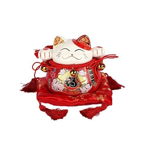 lachineuse Tirelire Maneki Neko Japonais Rouge - Spécial Pro