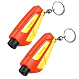 VicTsing Window Breaker Seatbelt Cutter, Portable Glass Breaker Keychain for Land & Underwater Emergency, Safety Car Escape Tool, 2 Pack