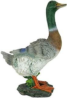 Design Toscano QM18989 Mallard Duck Animal Garden Statue, 13 Inch, Polyresin, Full color