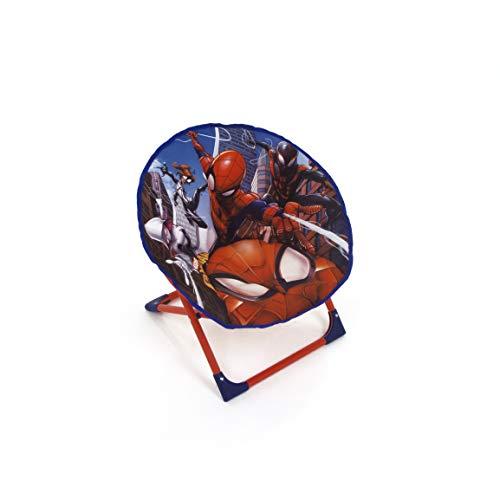 Arditex - Sedia a sdraio pieghevole in poliestere con struttura in metallo con licenza Spiderman, 50 x 50 x 50 cm