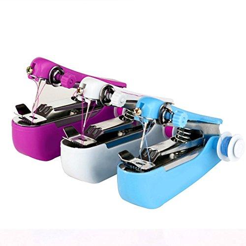 PioleUK Mini naaimachine, draagbare handnaaimachine, snelsteekgereedschap, doe-het-zelver, voor kleding, stof
