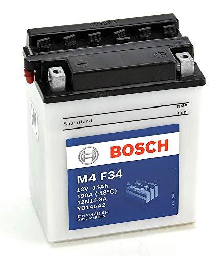 professionnel comparateur Batterie de moto Bosch M4F3412N14-3A / YB14L-A2 – Câble 12V 14A / h-190A choix