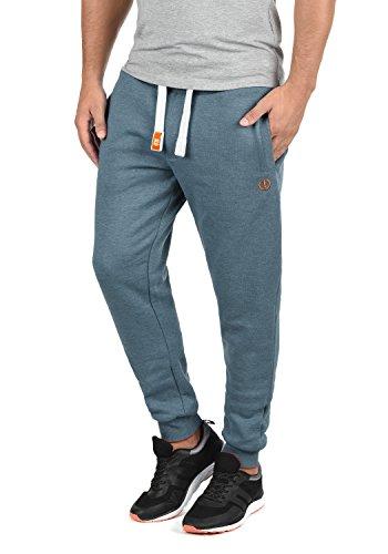 !Solid Benn Herren Jogginghose Sweatpants Sporthose mit kuscheliger Fleece-Innenseite aus hochwertiger Baumwollmischung Meliert, Größe:M, Farbe:Grey Blue Melange (1946M)