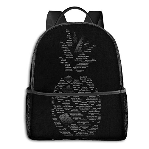 Hdadwy Psych Quotes Pineapple Backpack Unisex School Daily Backpack Lightweight Casual Travel Outdoor Camping Daypack