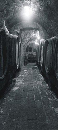 1art1 Wein - Gewölbe-Keller, Weinfässer Fototapete Poster-Tapete 202 x 90 cm
