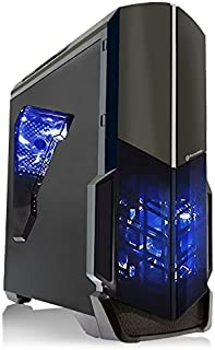 SkyTech Shadow GTX 1050 Ti Gaming Computer Desktop PC FX-4300 3.80 GHz Quad Core, GTX 1050 Ti 4GB, 8GB DDR3, 1TB HDD, 24X DVD, Wi-Fi USB, Windows 10 Pro 64-bit, Black (ST-SHADOW-GTX1050TI-V1)