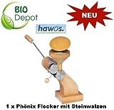 Hawos Phönix Flocker mit Stahlwalzen, ca. 50 g/min Hafer-Flocken