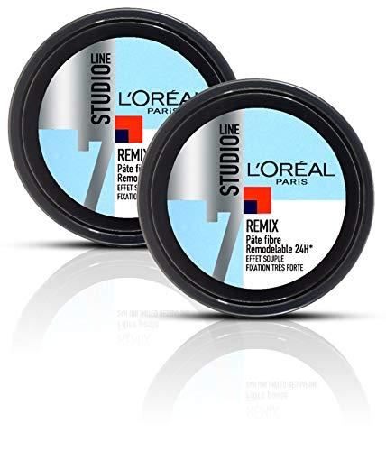 L'Oréal Paris Studio Line Pâte Coiffante Remodelable - Remix - 150 ml - Lot de 2