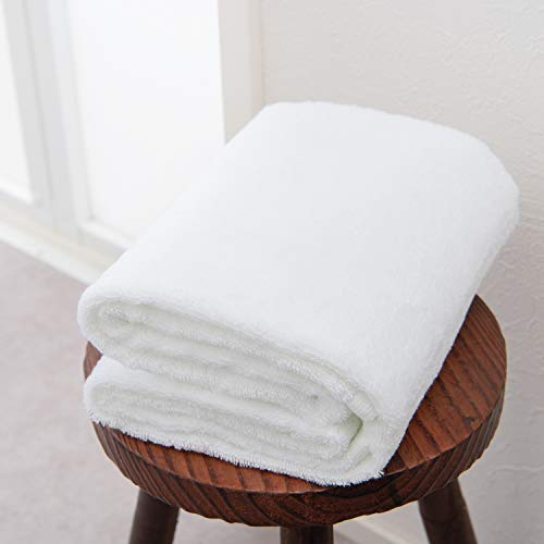 【今治タオルブランド認定】今治バスタオル 1枚(ホワイト)歓-yorokobi- お中元 お歳暮 ご挨拶 今治タオル ふんわり 速乾 imabari-towel