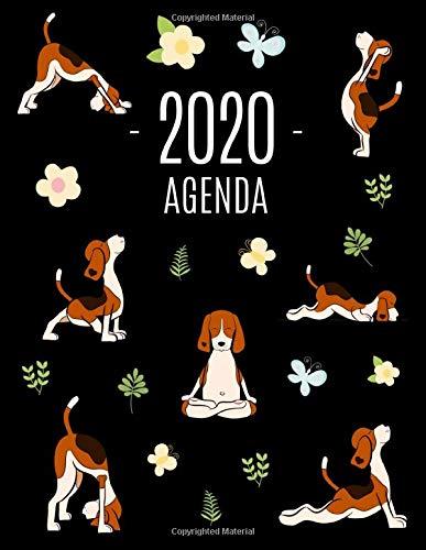Cani e Yoga Agenda 2020: Diario Settimanale per Organizzare Giorni Occupati | Pianificatore Giornaliera 2020