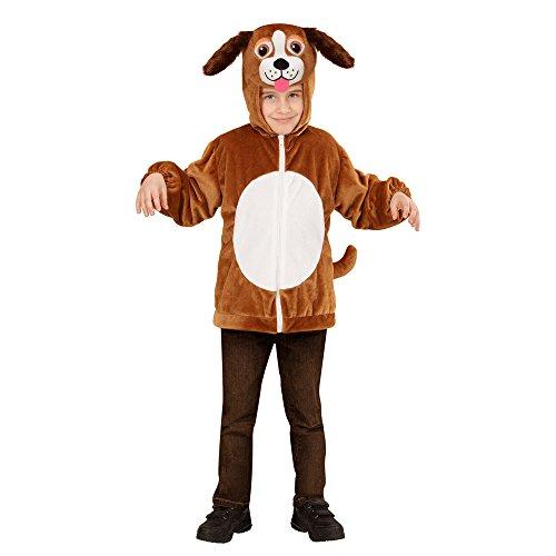 WIDMANN 97472?Disfraz para niños perro de peluche, chaqueta con capucha y máscara , color/modelo surtido