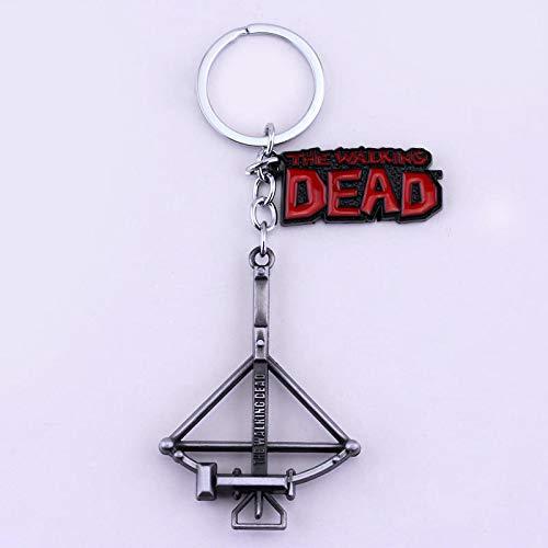 MINTUAN Der wandelnde Tote Schlüsselbund Armbrust Bogen und Pfeil Schlüsselkette Retro Schlüsselring