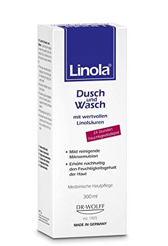 Linola Dusch und Wasch, 1 x 300 ml - für trockene oder zu Neurodermitis neigende Haut
