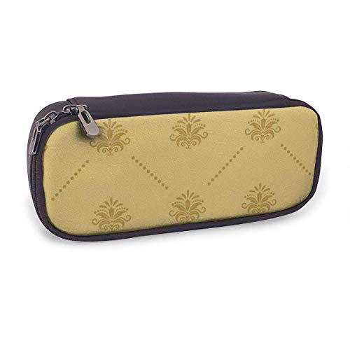 Pencil Case Pen Bag,Wallpaper Baroque,Large Capacity Pen Case Pencil Bag Stationery Pouch Pencil Holder Pouch with Big Compartments