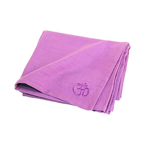 100% Traditional Cotton Yoga Blanket - EXTRA LONG - 200cm x 150cm (Lilac)