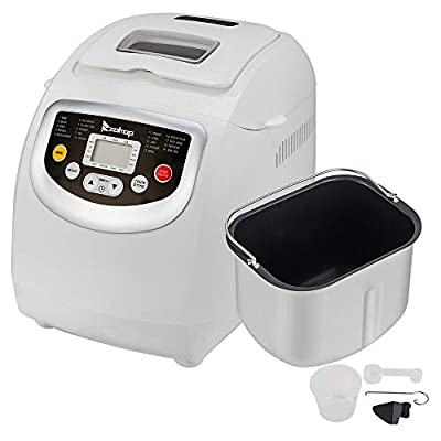 Bread Machine,Bread Maker With Automatic Feeding Function,High Temperature Resistant Environmental Protection Plastic for Home Use ,White ,110V 550W US plug