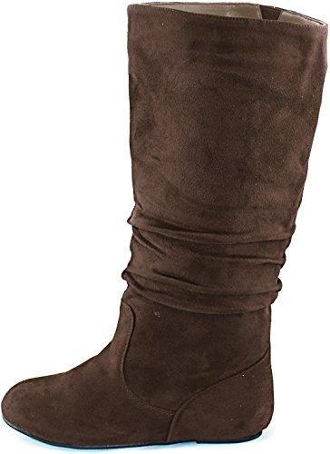 Top Moda - Data-1, schwarzer Samt Damen, Braun (Brown Velvet), 36 B(M) EU