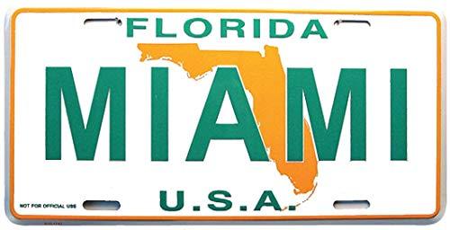 """Rockin Gear Miami License Plate, Miami Florida Souvenir License Plate 6"""" x 12"""" Inch"""