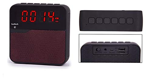 Kooltech 014392 Altavoz Radio, Despertador, Bluetooth, Rojo