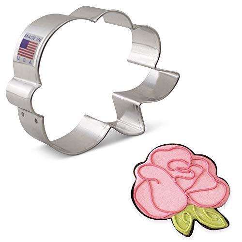 Ann Clark Cookie Cutters Cortador de galletas rosa/flor por LilaLoa - 10,2 cm