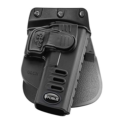 Fobus GLCH Concealed Carry OWB Holster for Glock 17, 19, 22, 23, 31, 32, 34, 35, 45, Active Retention, Right Handed