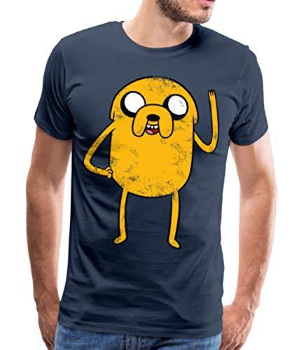 Spreadshirt Adventure Time Mit Finn Und Jake Vintage Jake Männer Premium T-Shirt, XL, Navy