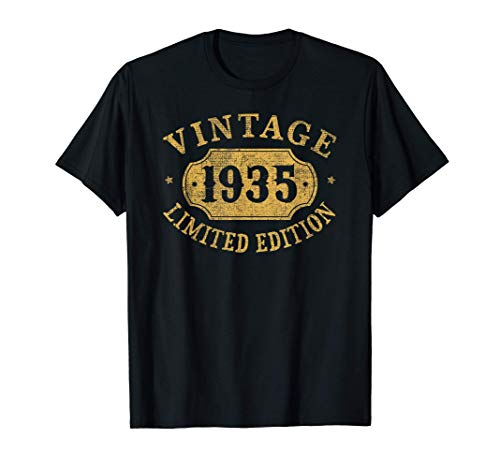 86 years old 86th Birthday Anniversary Gift Limited 1935 T-Shirt