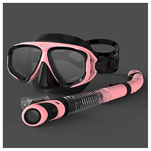 LJXWXN Erwachsenen-Schwimmbrille, Weitsicht-Schwimmbrille für Männer Frauen Jugend, kein undichtes Anti-Fog Anti-Fog-Schwimmbrille für Männer Frauen Jugend mit weicher Silikondichtung,Rosa