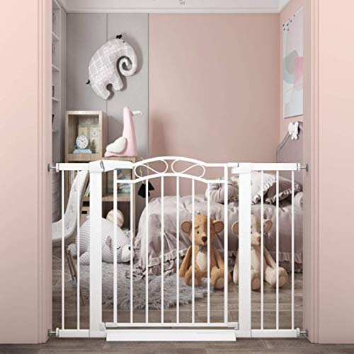 """Walk Through Baby Gate for Kids or Pets - Pressure Mount Dog Gates for Stairs and Doorways The House -Metal Pet Gate Wide 37.80""""-40.55"""""""