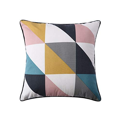 Geometrische Print Pillow Bedside Kussen bankhoofdkussen Office Siesta Pillow Taille (Color : 2)