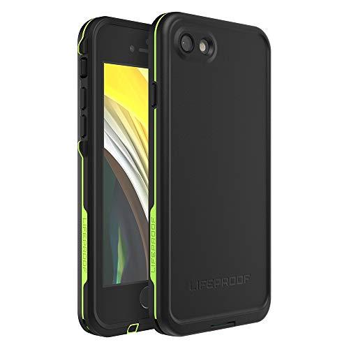 LIFEPROOF FRĒ SERIES Waterproof Case for iPhone SE (2nd gen – 2020) and iPhone 8/7 (NOT PLUS) – Retail Packaging – NIGHT LITE (BLACK/LIME)