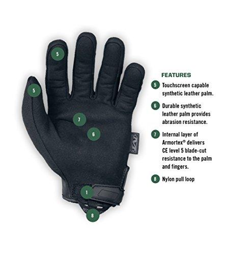 Guantes Tactical Specialty Pursuit D5 de Mechanix Wear (Grande, Negro entero)