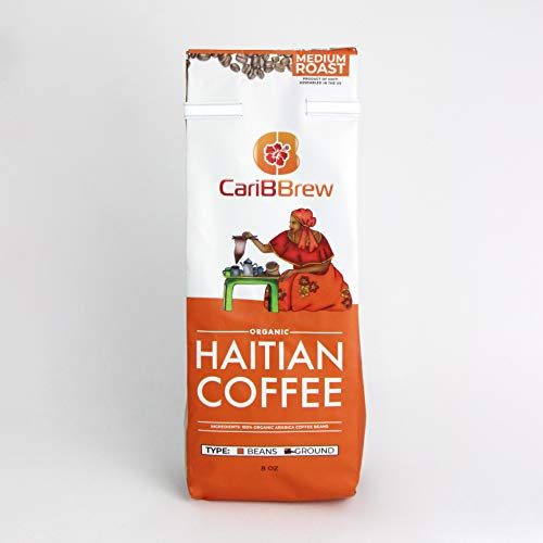 Organic Haitian Coffee Ground - Fresh Medium Roast - Fairtrade - Caribbrew - sale - deal